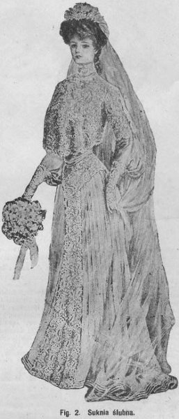 Suknia ślubna, 1904   Wedding dress, 1904