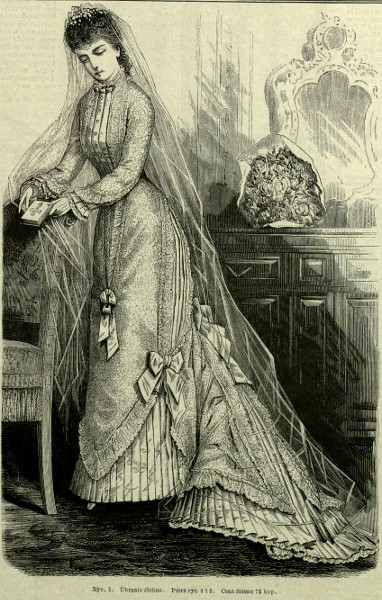 Suknia ślubna, 1879   Wedding dress, 1879