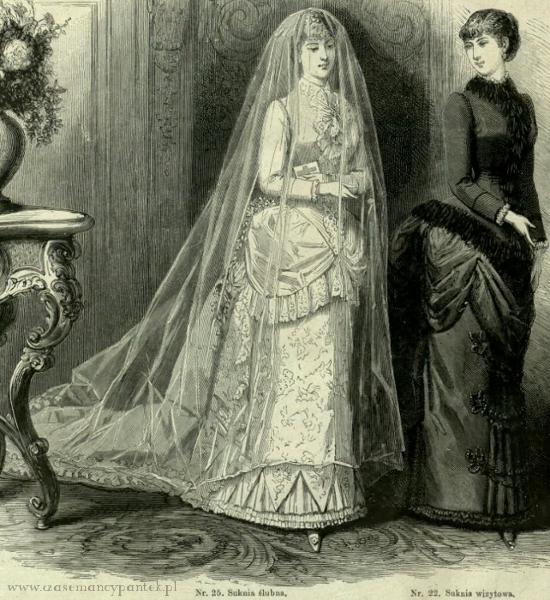 Suknia ślubna i wizytowa, 1883   Wedding and visiting dress, 1883
