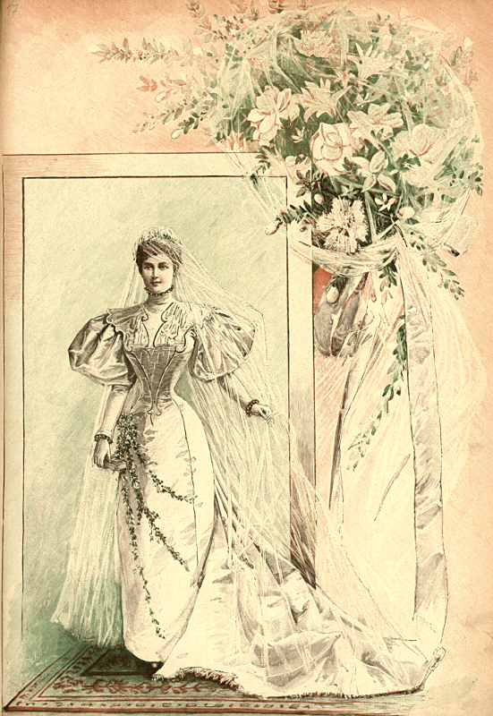 Suknia ślubna, 1895   Weddig dress, 1895