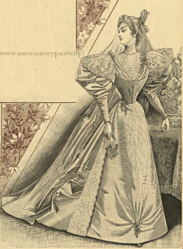 Suknia ślubna, 1895   Wedding dress, 1895