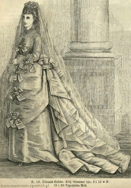 Suknia ślubna, 1873   Wedding dress, 1873