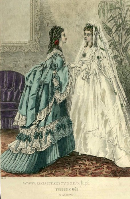 Suknia ślubna, 1872   Wedding dress, 1872