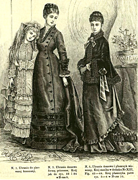 Strój do 1. komunii, 1876   1st COmmunion dress, 1876
