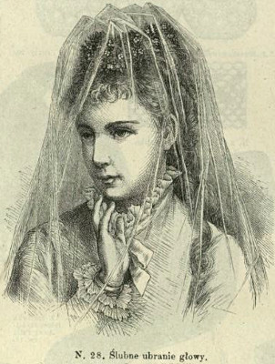 Welon, 1877   Wedding veil, 1877