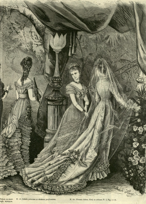 Suknia ślubna, 1877   Wedding dress, 1877